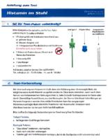 Anleitung Labortest Histamin im Stuhl