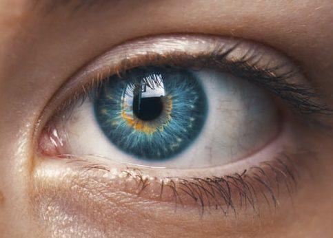Iris eines Auges nah