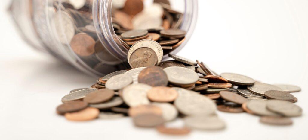 Glas mit Kleingeld - Preise
